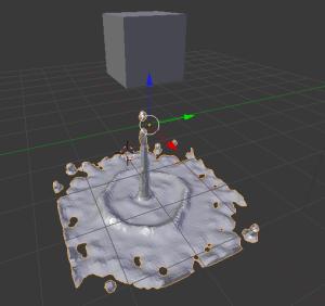 blender simulación de liquidos 3d