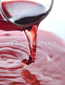copa de vino derramándose
