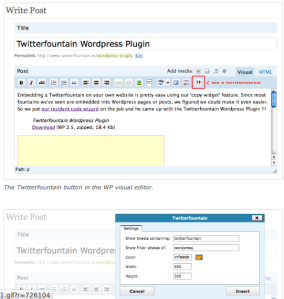 plugin para eventos twiiterfountain en wordpress