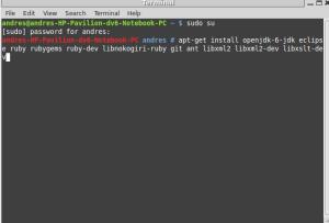 dependencias para android-sdk llamada desde linux terminal aplicaciones moviles app crear
