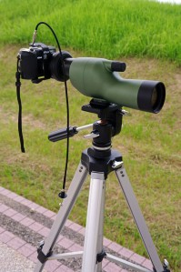 nikon haciendo digiscoping